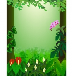 Forest view vector