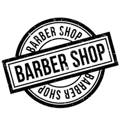 Barber Shop rubber stamp vector image