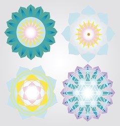 Mini Mandalas icons set vector image