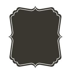 Silhouette border heraldic with decorative frame vector