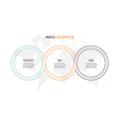 Business infographics presentation with 3 options vector