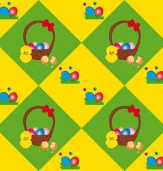 Easter Basket Texture vector image