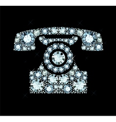 Diamond telephone vector