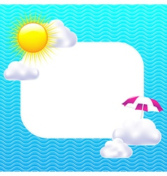 Card with sun and clouds vector