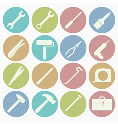 White icons tool vector