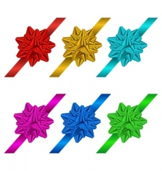 Gift bows and ribbons vector
