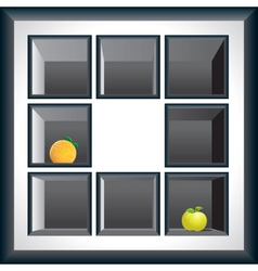 Exhibition shelves vector
