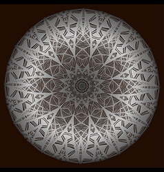 The silver mandala vector