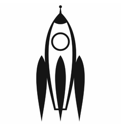 Rocket icon simple style vector