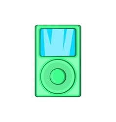 Mp3 player icon in cartoon style vector