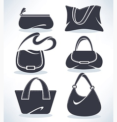 bags collection vector image vector image