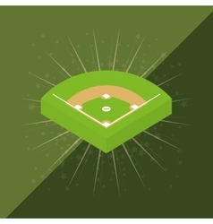 Baseball game field vector