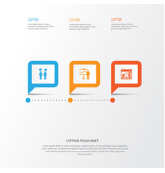 Board icons set collection of special vector