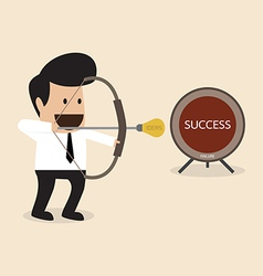 Businessman launch idea arrow vector image vector image