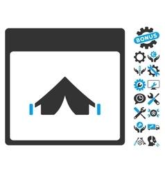 Camping Calendar Page Icon With Bonus vector image