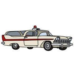 Classic ambulance vector