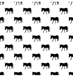 Donkey pattern seamless vector image vector image