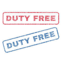 Duty free textile stamps vector