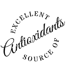 Excellent source of antioxidants stamp vector