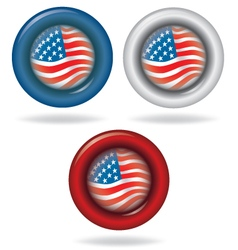 Flag of America Circle shape vector image vector image