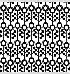flower sunlower pattern vector image vector image