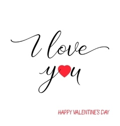 I love you lettering text on white background vector