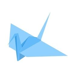 Origami Paper Crane vector image