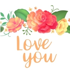 Post card for Valentines day vector image