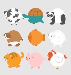 Round animals vector