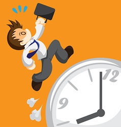 Run out of time vector image