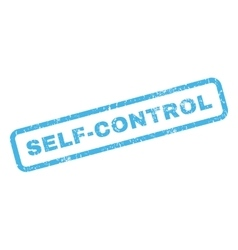 Self-control rubber stamp vector