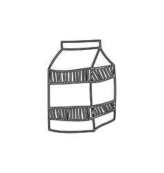 Silhouette milk carton drink icon vector