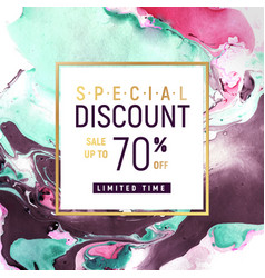 special discount square banner template with vector image vector image