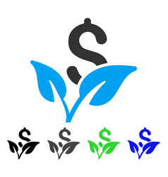 startup sprout flat icon vector image vector image