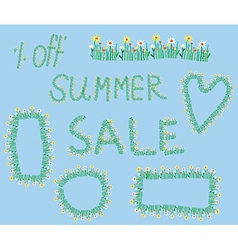 Summer sale design elements vector image