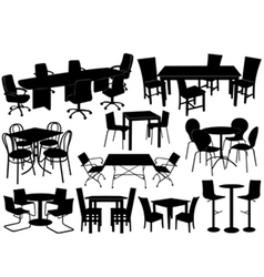 Tables and chairs vector