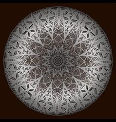 The silver mandala vector