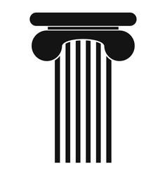 Top column icon simple style vector