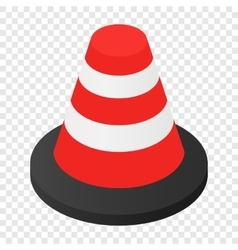 Traffic cone isometric 3d icon vector image