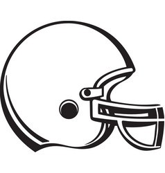 Acg00228 football helmet vector