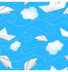 Ships planes and clouds vector