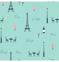Pattern of eiffel tower vector