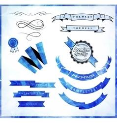 Retro ribbons and scrap booking vector