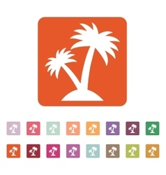 The palm icon island symbol flat vector