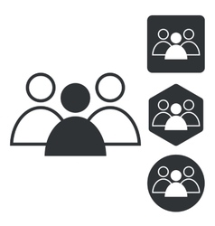 Group leader icon set monochrome vector