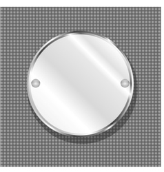 Round metal plate vector