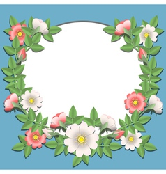 Paper flowers border vector
