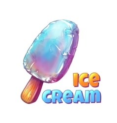 Juicy ice cream vector