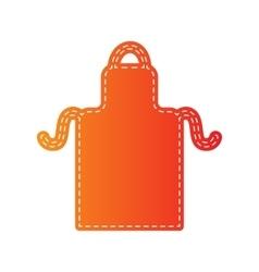Apron simple sign orange applique isolated vector