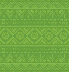 light green native american ethnic pattern vector image